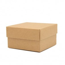 Kraft Paperboard Box with Cover - Pack 50 unt