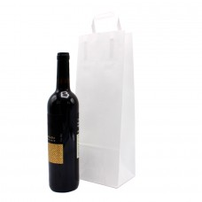 Folded Handle Paper Bag White - Pack 25 unt