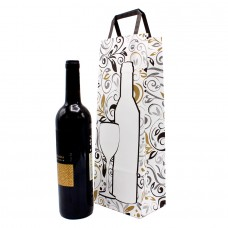 Folded Handle Paper Bag White Decor - Pack 25 unt