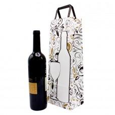 Folded Handle Paper Bag White Decor - Pack 25 unt