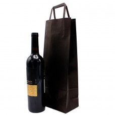 Folded Handle Paper Bag Black - Pack 25 unt