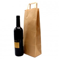 Folded Handle Paper Bag Kraft - Pack 25 unt