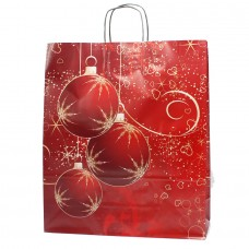 Twisted Handle Paper Bag Couchê Christmas NC01 - Pack 25 unt