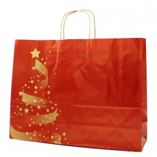 Twisted Handle Paper Bag Couchê Christmas NC06 - Pack 25 unt