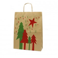 Twisted Handle Paper Bag Christmas NC03 - Pack 25 unt