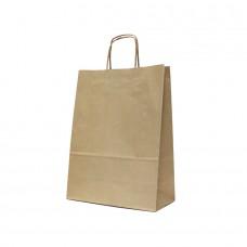 Paper Bag Twisted Handle Brown Kraft - Pack 25 unt.