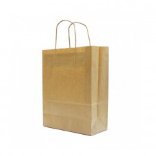 Paper Bag Twisted Handle Brown Kraft Verge - Pack 25 unt