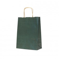 Paper Bag Twisted Handle Brown Kraft Green - Pack 25 unt