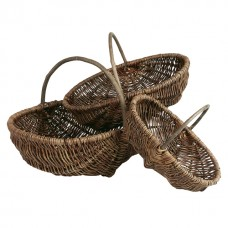 Wicker Oval basket with handle - Unit