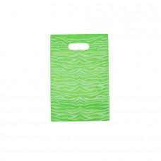 Die Cut PELD Plastic Bag With Fantasy Pattern Green - Pack 100 unt