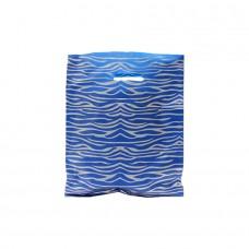 Die Cut PELD Plastic Bag With Fantasy Pattern Blue - Pack 100 unt