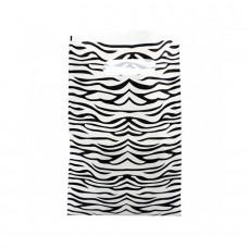 Die Cut PELD Plastic Bag With Fantasy Pattern White - Pack 100 und
