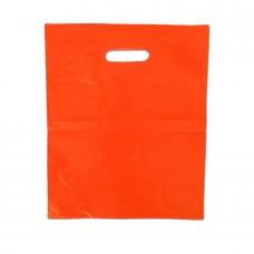 Die Cut PELD Plastic Bag Orange - Pack 100 unt