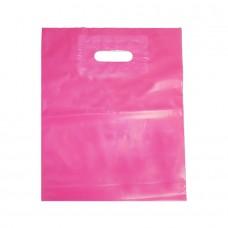Die Cut PELD Plastic Bag Pink - Pack 100 unt