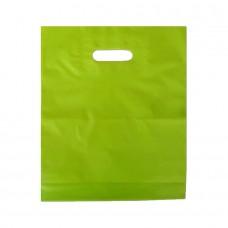 Die Cut PELD Plastic Bag Green - Pack 100 unt