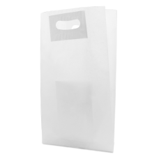 Die Cut White Kraft Paper Bag - Pack 50 unt