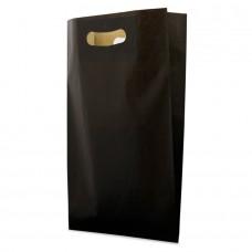 Die Cut White Kraft Paper Bag Black - Pack 50 unt