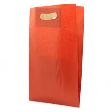 Die Cut Kraft Paper Bag Red - Pack 50 unt