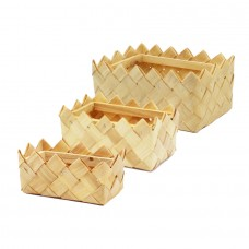 Rectangular Wood Basket - Unit