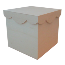 Wood Box with Clipped Lid - Unit