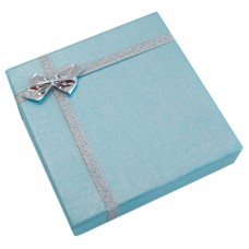 Blue Gift Box with silver ribbon - Unit