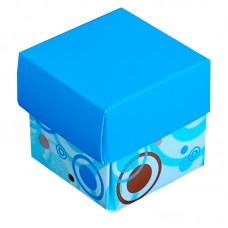 Blue Gift Box with Cover - Pack 25 unt