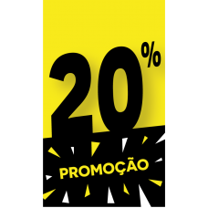 Discount Tag 20% - Pack 100 unt