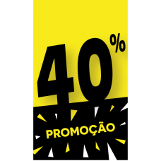 Discount Tag 40% - Pack 100 unt