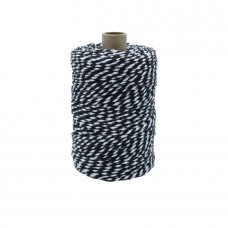 Preto/White Cotton Yarn - Unit