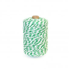 Green/White Cotton Yarn - Unit