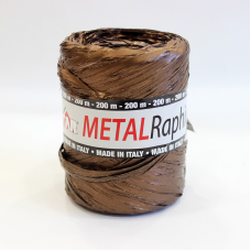 Metallic Brown Raphia Ribbon - Unit