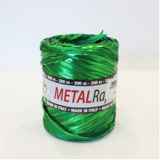 Metallic Green Raphia Ribbon - Unit