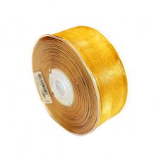 Gold Organza Wired Ribbon - Unit