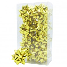 Gold Metallic Gift Bows - Pack 24 unt