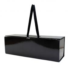 Premium Bottle Box With Magnetic Closure Black Gloss - 1 Bottle Unit