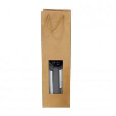 Natural Kraft Bag with Window- Pack 10 unt