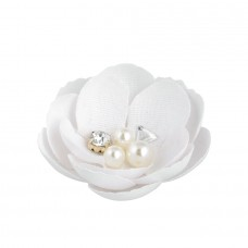 Decorative glossy Flower with pearls - Pack 12 unt