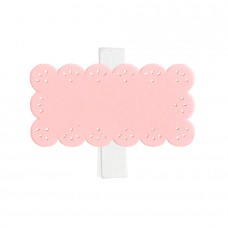 Clothespins Gift Tags Pink - Pack 24 unt