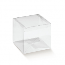 Clear PVC Box with auto lid - Pack 10 unt