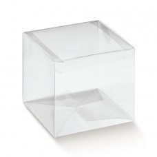 Clear PVC  Box with integrated lid - Pack 10 unt