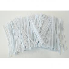 White Twist Ties - Pack 1000 unt
