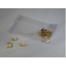 Gold Metallic Clip for closing Cellophane Bags - Pack 1000 unt