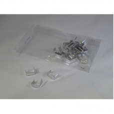 Silver Metallic Clip for closing Cellophane Bags - Pack 1000 unt