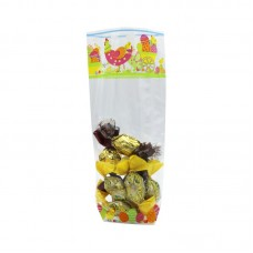 PP Bags Easter Pattern with Base - Pack 100 unt