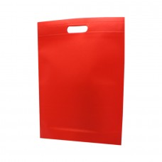 Die Cut Handle Non Woven Bag Red - Pack 50 unt