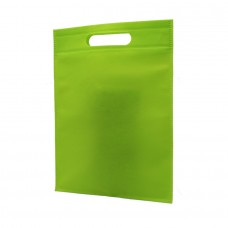 Die Cut Handle Non Woven Bag Green - Pack 50 unt